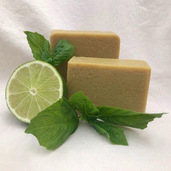 Basil Lime Goat Milk Soap